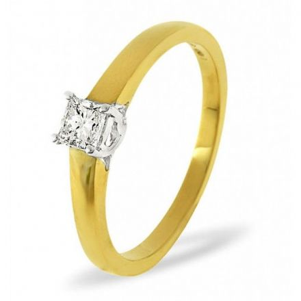 18K Gold 0.33ct H/si Diamond Solitaire Ring, SR010-33HSY, SR10-33HSY